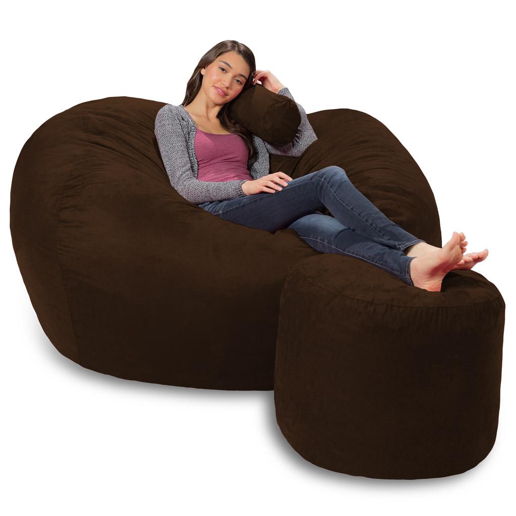 Magnificent 5 Ft Bean Bag Lounger Best 5 Foot Bean Bag Couch Theyellowbook Wood Chair Design Ideas Theyellowbookinfo