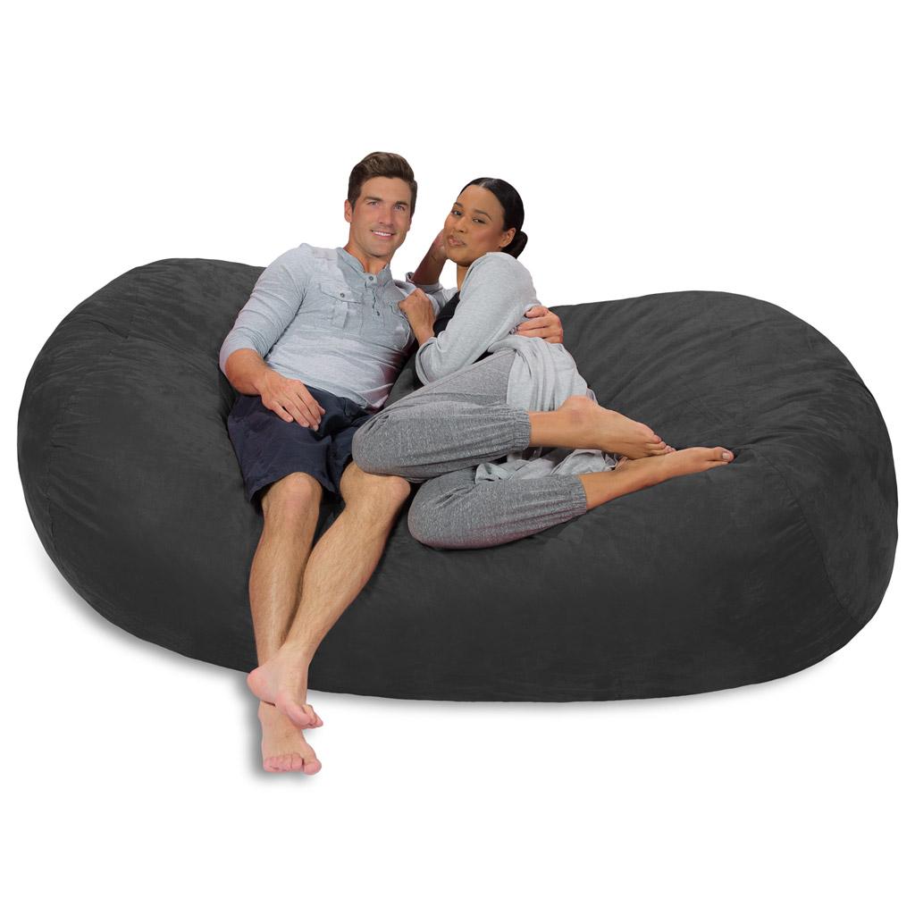 Phenomenal Large Bean Bag Couch 7 5 Foot Bean Bag Lounger Theyellowbook Wood Chair Design Ideas Theyellowbookinfo