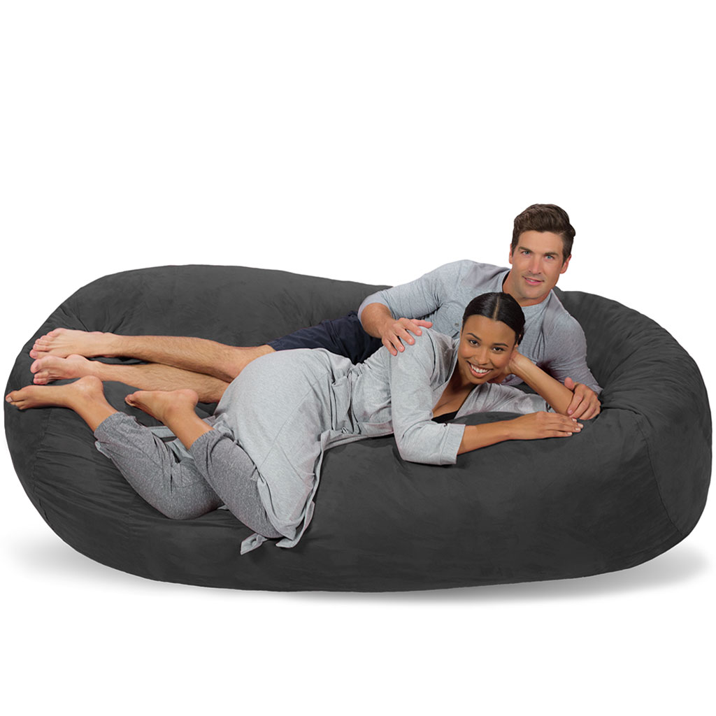 Super Large Bean Bag Couch 7 5 Foot Bean Bag Lounger Pabps2019 Chair Design Images Pabps2019Com