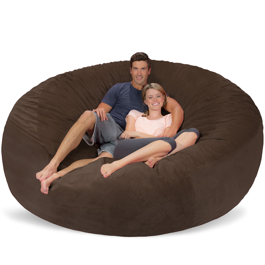 8 ft giant bean bag chair. Black Bedroom Furniture Sets. Home Design Ideas